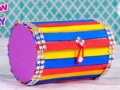 Popsicle stick box craft | DIY arts and crafts | innovative idea | Artkala 529
