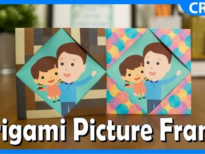 Simple Origami Paper Crafts | Picture Frame Craft | DIY Tutorial for Kids