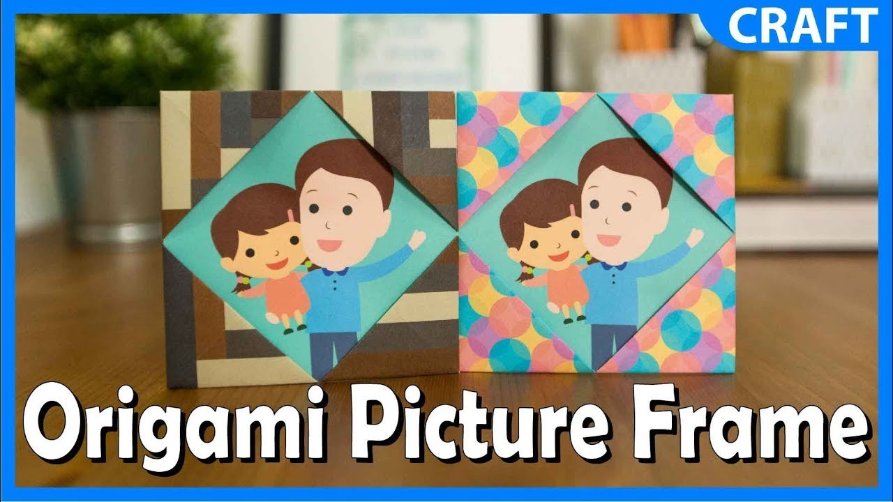 Simple Origami Paper Crafts Picture Frame Craft Diy Tutorial For Kids