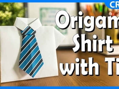 Simple Origami Paper Crafts | Shirt with Tie Craft | DIY Tutorial for Kids