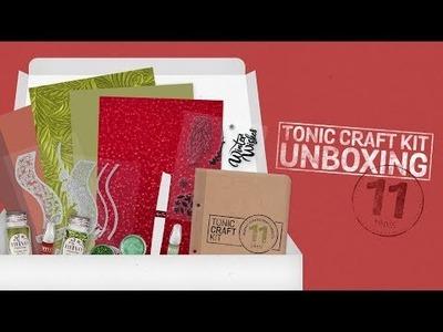 Tonic Live Unboxing - Tonic Craft  Kit 11 - Festive Wishes