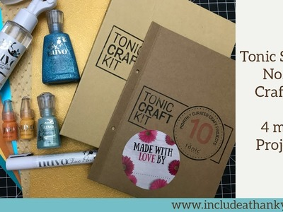 Tonic Studios No. 10 Craft Kit 2018 | 4 more Projects! | Ocean Blues and Bright Oranges