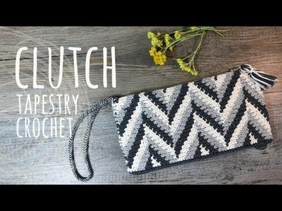 Tutorial Clutch Tapestry Crochet - Lanas y Ovillos in English