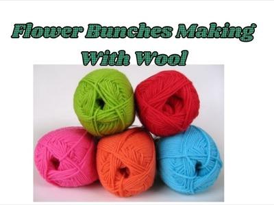 Unique woollen craft | Flower sticks making