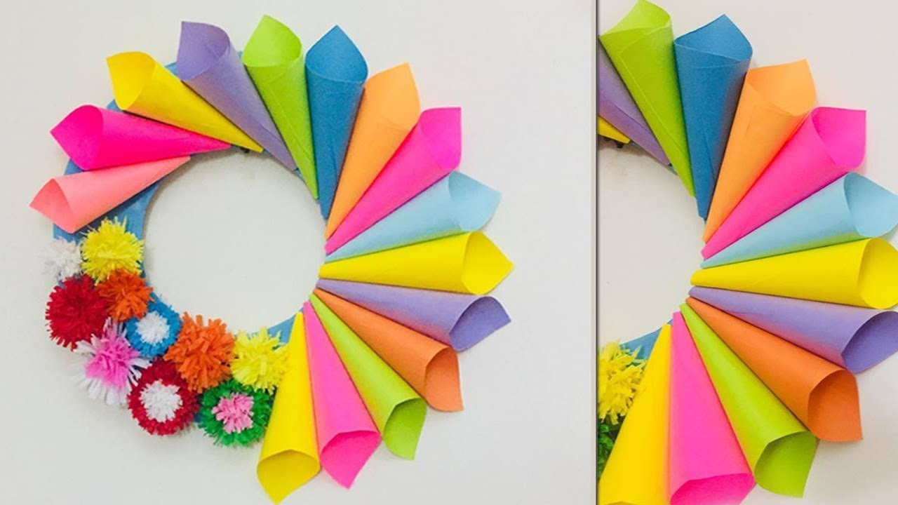 Wall Hanging Craft Ideas | Home.Wall Decoration Ideas With Paper Cones