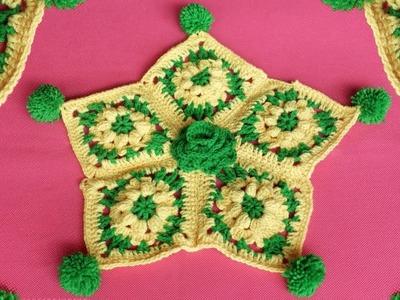 WOW ! Amazing Star Design Rumal | Woolen Rumal Making | DIY Room Decor | Crafts | Table Mat| Thalpos