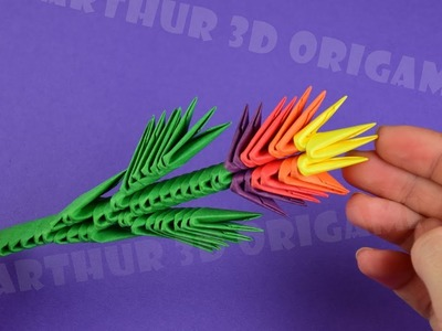 3D origami little flower  ♡ DIY ♡ How to make