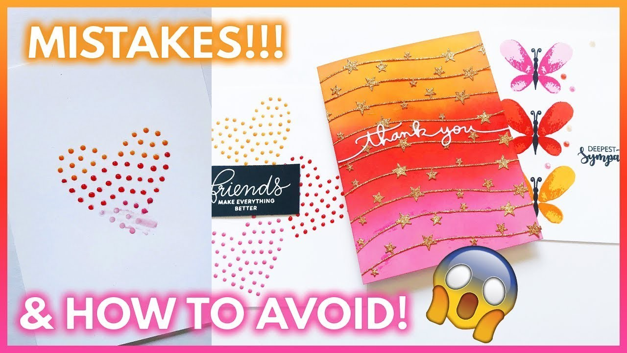 8 Card Making Mistakes To AVOID | DIY Card Tips | Handmade Cards Tutorial
