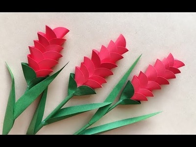 ABC TV | How To Make Heliconia Paper Flower With Shape Punch - Craft Tutorial