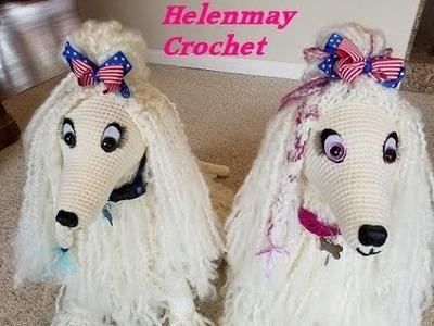 Crochet Large Amigurumi Afghan Dog Part 1 of 3 DIY Video Tutorial