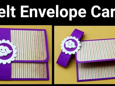 Cute Belt Envelope Card Tutorial | DIY birthday Card | Greeting Card | Friendship Day Card |