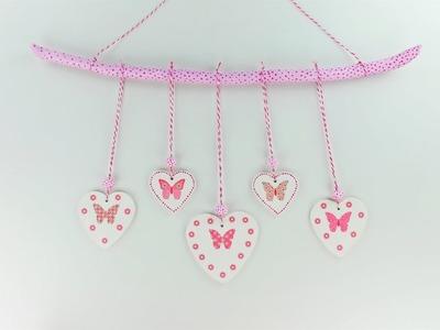 Decoupage clay hearts - Clay Das - Decoupage Tutorial - DIY - Do It Yourself