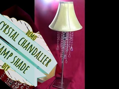 Demo Crystal Chandalier Lampshade Using A Wire Wreath DIY