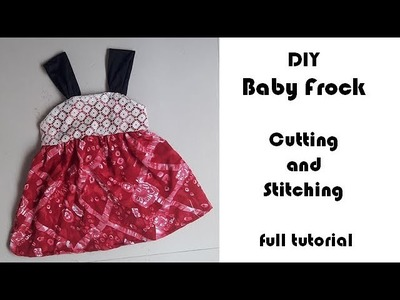 DIY BABY FROCK cutting and Stitching full tutorial