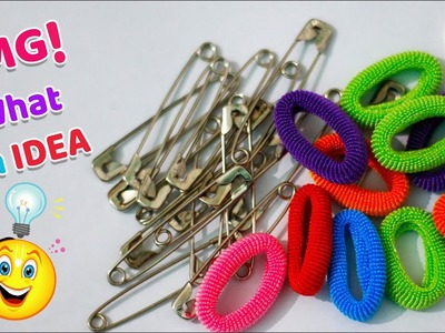 DIY:Best out of waste safety pins & hair rubber bands. cool craft ideas | Best reuse idea | Artkala