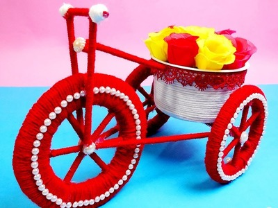 DIY Bicycle using cardboard & wool | Home decor | Best Out of Waste | Artsy Madhu 24