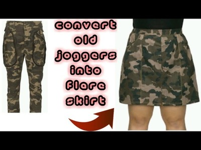 DIY: Convert Old JOGGERS PANT Into Flare Skirt in 10 Minutes(HINDI)