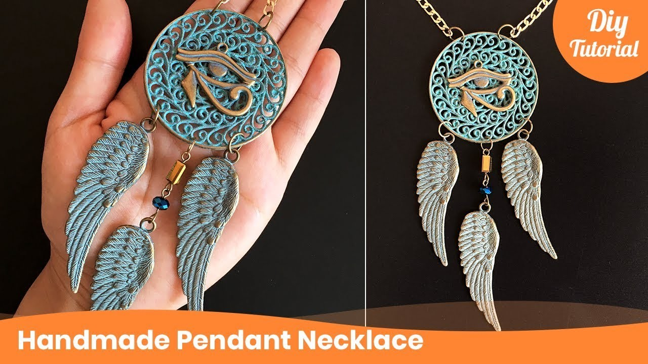 DIY crafts: How to make a fashion pendant necklace