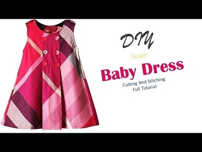 DIY Cute Box Pleated Baby Frock Cutting And Stitching Full Tutorial