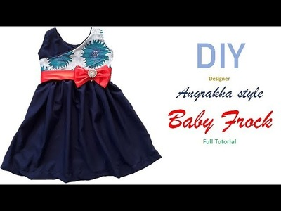 DIY Designer Angrakha Style Frock Cutting And Stitching Full Tutorial