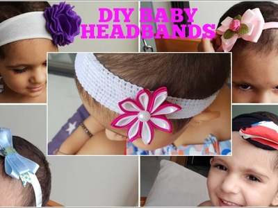 DIY Designer Baby and toddler Headbands at Home | Tutorial | Using old clothes
