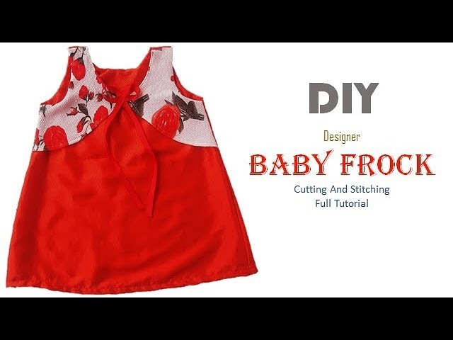 DIY Designer Baby Dress With Attached Koti Cutting And Stitching Full Tutorial
