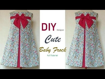 DIY Designer Cute Baby Frock Cutting And Stitching Full Tutorial