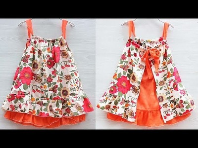 DIY Designer Halter Neck Baby Frock Cutting And Stitching full Tutorial