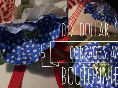 DIY Dollar Tree Corsages and Boutonnieres