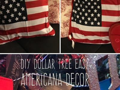 DIY Dollar Tree EASY  Americana Decor  With No Sew  Pillow Covers