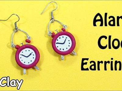 Diy Earrings - Clock Alarm Polymer clay tutorial