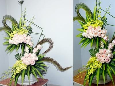 DIY Floral Arrangements for Church|DIY ROSE FLOWER 2 Layers,Episode 10
