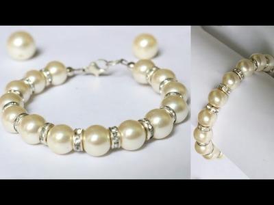 DIY Friendship Bracelet.Pearl Bracelet Making.Easy Beaded Pearl Bracelet.Friendship band.Bracelets