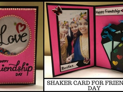 DIY friendship day card | shaker card tutorial | birthday card for friends | diy gift idea