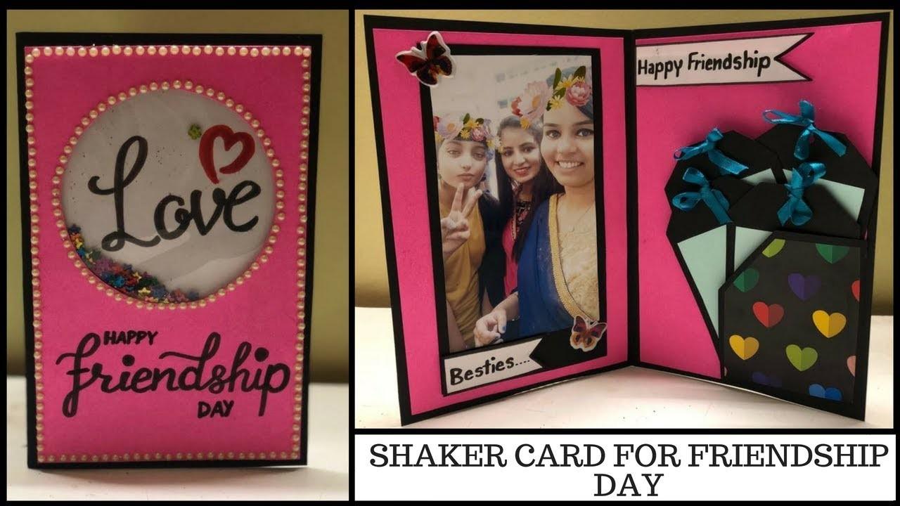 DIY friendship day card | shaker card tutorial | birthday card for friends | diy gift idea