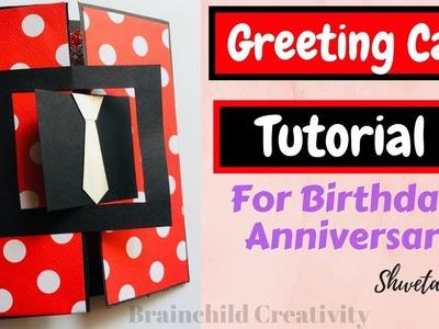 DIY Greeting Card Tutorial  | Handmade Card For Birthday. Anniversary
