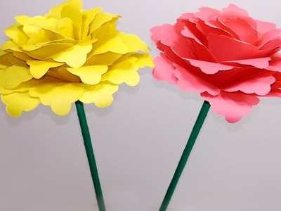 DIY:How to Make Beautiful Stick Flower with Paper|Stick Flower-Handcraft |Jarine's Crafty Creation