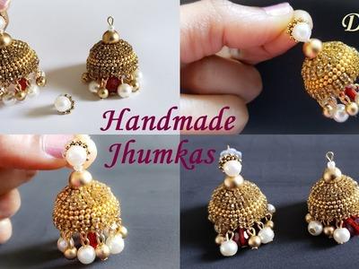 DIY || How To Make Bridal Silk Thread Jhumka Earrings at Home || Silk Thread Earrings Tutorial !!!