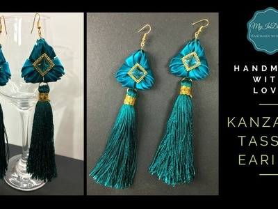 DIY Kanzashi Tassel Earrings | MyInDulzens