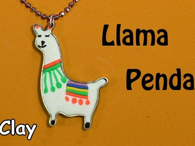 DIY Llama pendant - Flat wire -Polymer clay tutorial