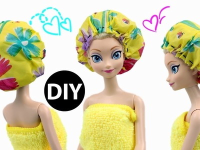 DIY Mini Shower Cap for Dolls.Dollhouse Accessories EASY
