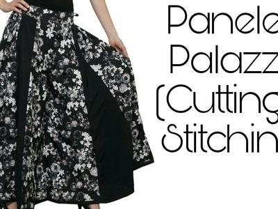 (DIY) PANELED PALAZZO ( cutting and stitching)