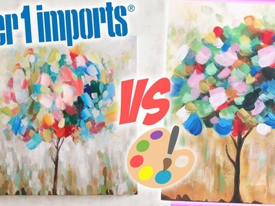 DIY Pier One Tree with Leaves Tutorial | Art Dupe Step-by-Step Acrylic Painting for Beginners
