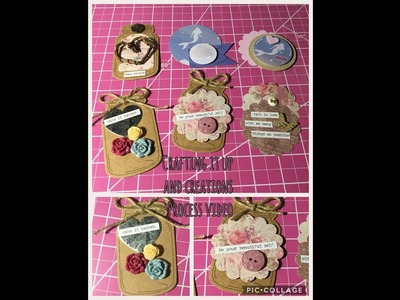 DIY Process Video - Stacked Embellishments using Punches -not a tutorial- Shared Ideas
