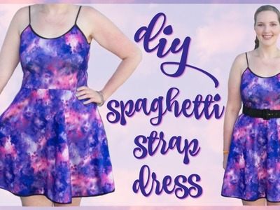 DIY Spaghetti Strap Dress Sewing Tutorial   How to Sew a Skater Dress Easy