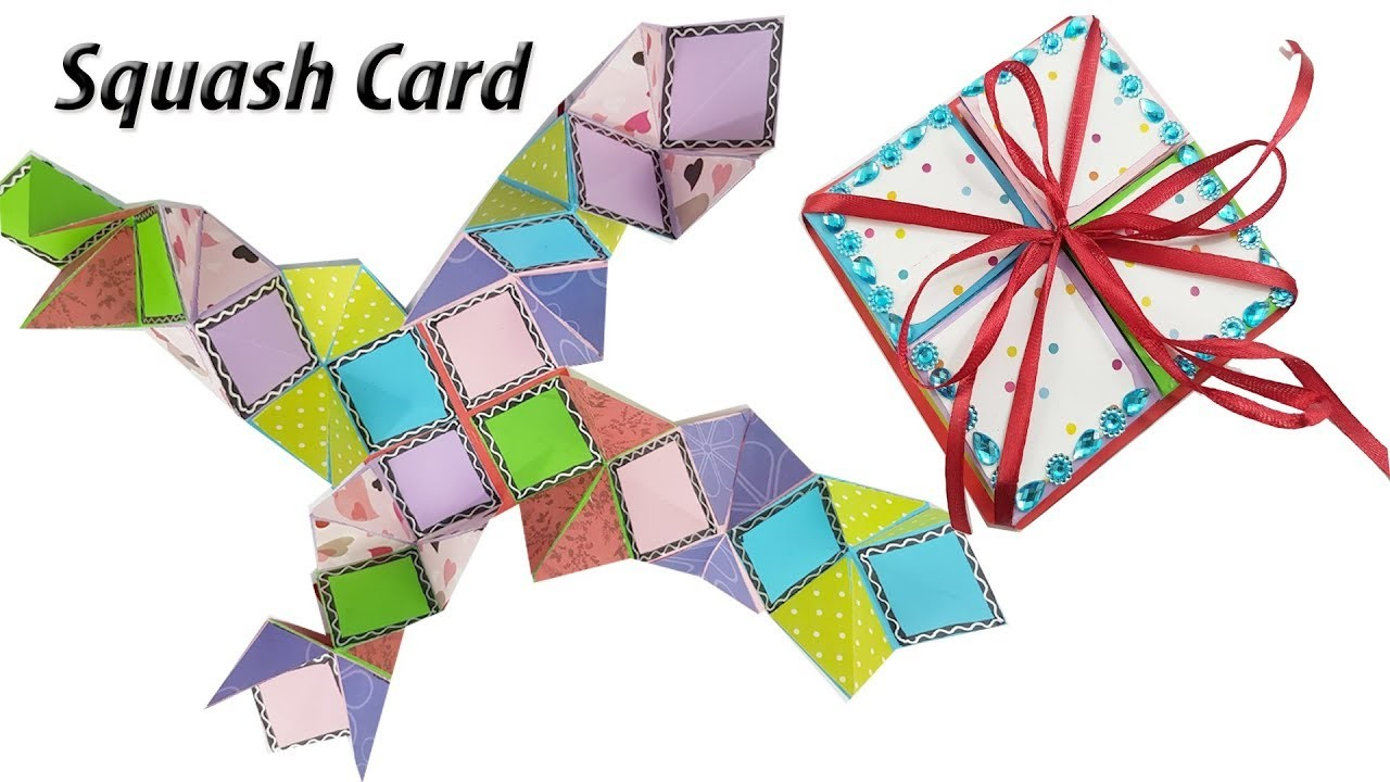 DIY Squash Card Tutorial | How to Make Squash Card for Scrapbook | JK Arts 1374