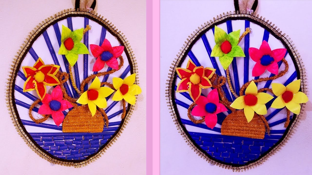 DIY Wall hanging - Best out of waste wall decoration 2018 - Exclusive wall hanging ideas