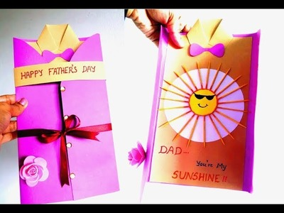 Easy Father's Day Card 2018 ~ DIY Unique Gift Idea For Beginners ~ Easy Tutorial ~ Steps.