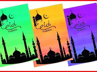 Eid Greeting Card| Handmade Card Tutorial| How To Make| diy greeting card