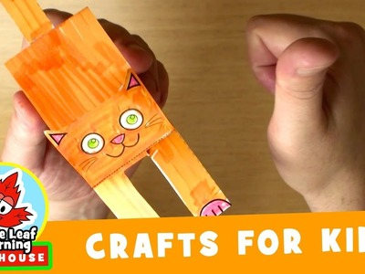 Funny Cat Craft for Kids   Maple Leaf Learning Playhouse